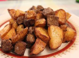 Ficatei cu cartofi si usturoi