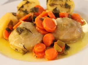 Anghinare cu cartofi si morcovi (a la polita)