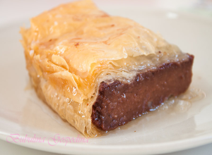Galaktompoureko – placinta greceasca cu gris si ciocolata