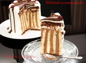 Tort spirala cu crema ganache