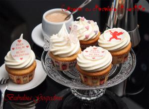 Cupcakes cu ciocolata si vanilie