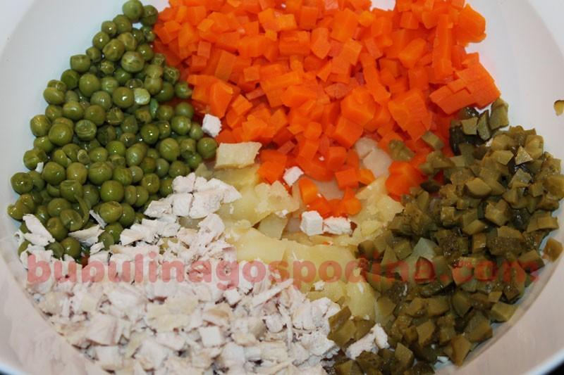 Salata de boeuf cu mustar